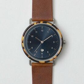 chiandchi チーアンドチー ESU 腕時計 レザーベルト S5-407 シルバー/コニャック/ウイスキー 日本正規品
