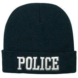 Rothco ニット帽 ポリス 刺繍 5449 POLICE | ロスコ ウォッチキャップ フリースキャップ スキー帽 ワッチ・キャップ ワッチキャップ ビーニー ニットキャップ メンズ