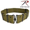 ROTHCO ピストルベルト GIスタイル [ オリーブドラブ / Lサイズ ] Rothco ウェブベルト ブラック ホワイト
