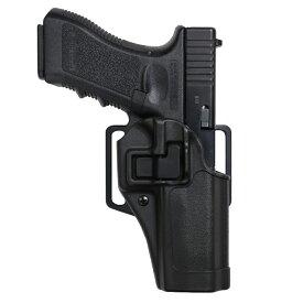 BLACKHAWK SERPA CQCホルスター マルイ グロック17、18C適合 M&P9共用可 [ 右利き / ブラック ] BHI Glock2021S&WM&P.45 410513BK-R | Serpa シェルパ Blackhawk スミス&ウエッソン スミス&ウェッソン ヒップホルスター CQBホルスター 近接格闘 拳銃嚢