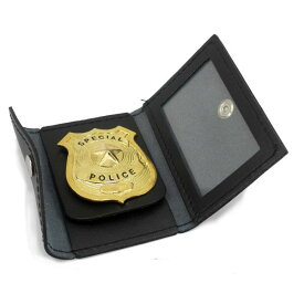 Rothco ID&バッジホルダー 1129 革 ブラック IDカード&バッジホルダー   IDホルダー 名札入れ 社員証 IDカードケース カードホルダー バッジケース 警察バッジケース バッチケース 警察バッチケース バッチホルダー