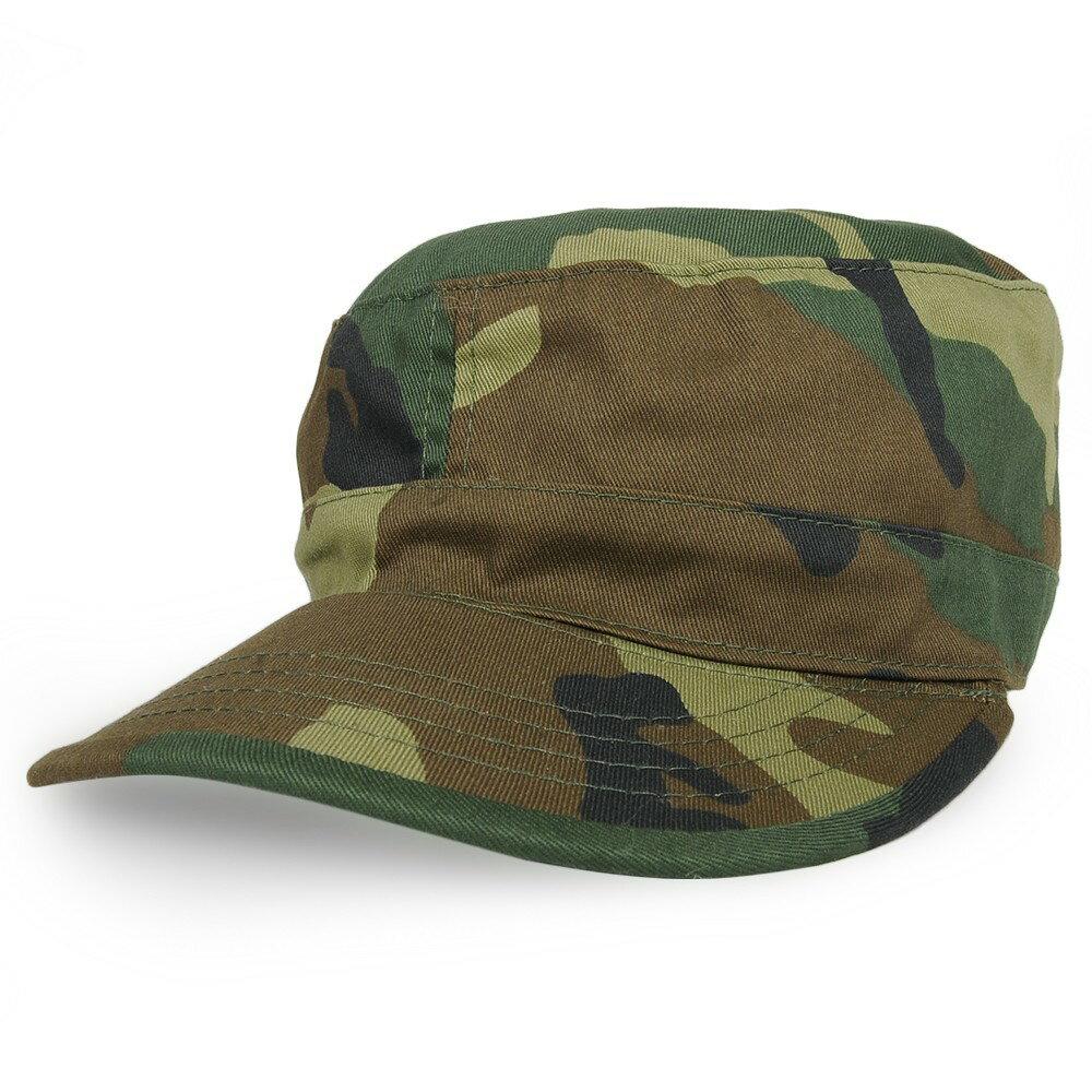 Rothco ファティーグキャップ ベルクロ調節可能 [ ウッドランドカモ ] 帽子   ベースボールキャップ 野球帽 メンズ ハット ミリタリーキャップ