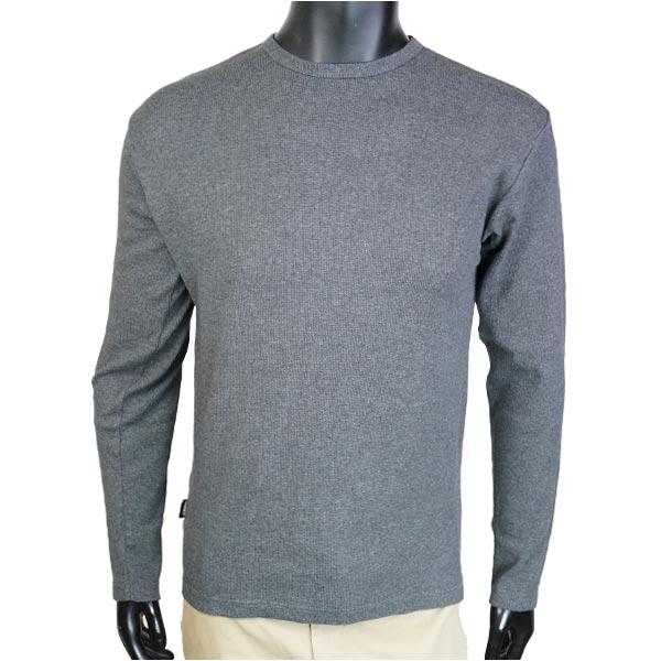 AVIREX Tシャツ 長袖 デイリー クルーネック ミニワッフル [ チャコール / XLサイズ ] ロングTシャツ ロンT 長そでアヴィレックス アビレックス 6143333 メンズ メンズTシャツ トップス カットソー