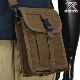 Rothco ポートフォリオバッグ キャンバストラベル [ ブラウン ] 2125 ショルダーバック メッセンジャーバッグ かばん カジュアルバッグ カバン 鞄 ミリタリー 帆布 斜めがけバッグ 肩掛けバッグ ショルダーバッグ 肩掛けかばん 肩掛けカバン