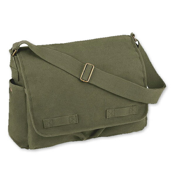 Rothco メッセンジャーバッグ HW クラシック [ オリーブドラブ ] ショルダーバッグ かばん カジュアルバッグ カバン 鞄 ミリタリー 帆布 斜めがけバッグ