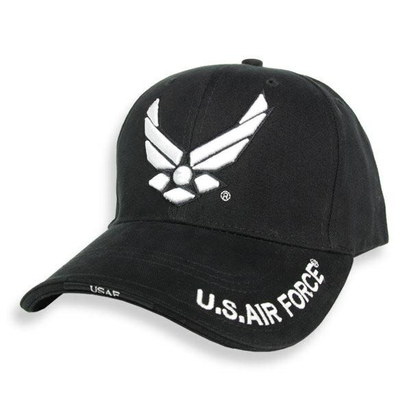 Rothco キャップ U.S. Air Forceロゴ [ ブラック ] 938403 | ベースボールキャップ 野球帽 メンズ ワークキャップ ミリタリーハット ミリタリーキャップ
