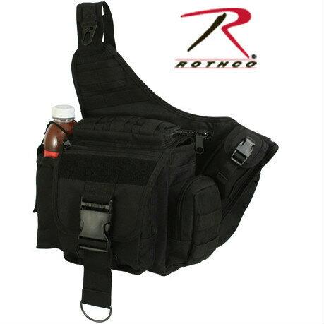 Rothco ベイルアウトバッグ アドバンス タクティカル MOLLE対応 ショルダーバッグ [ ブラック ] 2438 メッセンジャーバック かばん カジュアルバッグ カバン 鞄 ミリタリー 帆布 斜めがけバッグ
