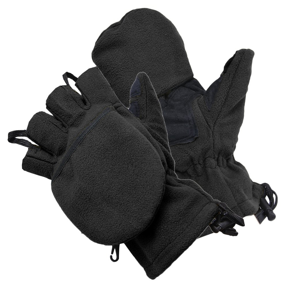Rothco ミトン 防寒手袋 スナイパーグローブ [ ブラック / Sサイズ ] ACUカモ Lサイズ | 革手袋 レザーグローブ 皮製 皮手袋 タクティカルグローブ ミリタリーグローブ デジタルカモフラージュ 迷彩