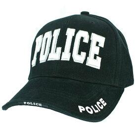 Rothco キャップ POLICE ブラック |Rothco ベースボールキャップ 野球帽 メンズ ワークキャップ ミリタリーハット ミリタリーキャップ