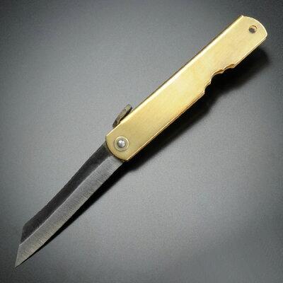 肥後守定和式ナイフ折りたたみ青紙割込背黒
