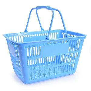 買い物カゴ 11L スモールサイズ ショッピングバスケット [ ブルー ] 11リットル 持ち手 重ね収納 整理 運搬 アウトドア キャンプ インテリア ガレージ 車中 加工 洗濯カゴ 収納箱 かご 籠 スト