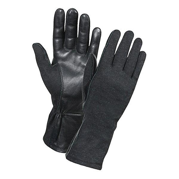 ロスコ 羊革フライトグローブ 耐熱仕様 [ ブラック / Mサイズ ] 3457 Rothco | 革レザーグローブ 皮製 皮タクティカルグローブ ミリタリーグローブ