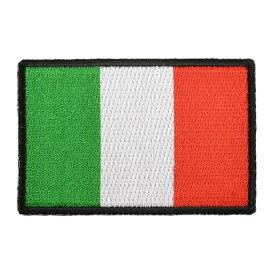 ミリタリーパッチ イタリア国旗 アイロンシート付 ミリタリーワッペン アップリケ 記章 徽章 襟章 肩章 胸章 階級章