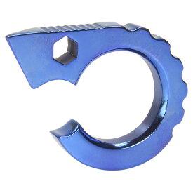 栓抜き チタン製 マルチツール C型 [ ブルー ] ボトルオープナー 栓ぬき チタニウム