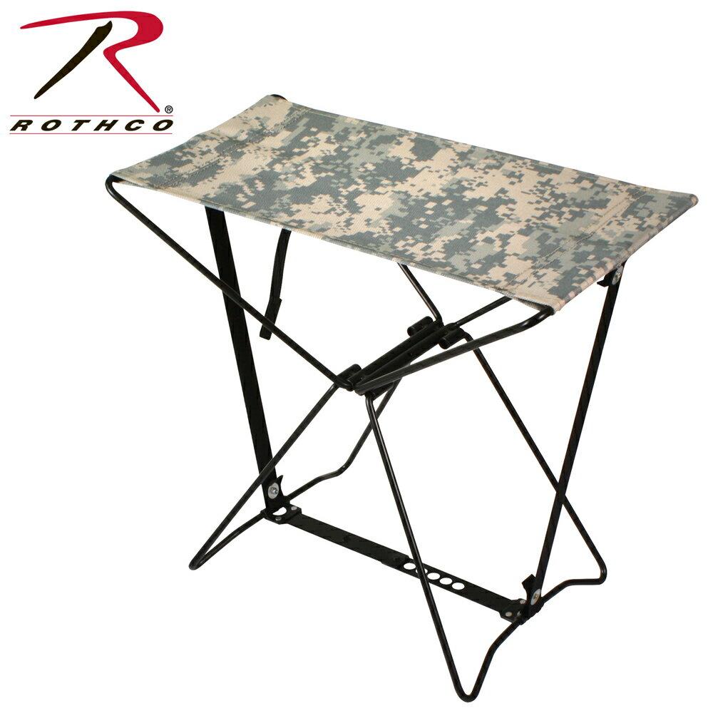 Rothco 専用ケース付 折りたたみイス [ ACUデジタルカモ ] | アウトドアチェア 折りたたみいす 折り畳みイス 折り畳み椅子 折り畳みいす フォールディングチェア デジタルカモフラージュ ユニバーサルカモ 迷彩