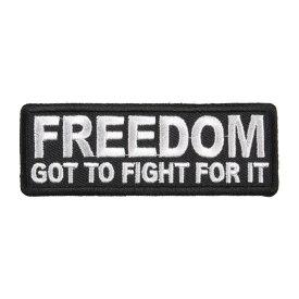 ミリタリーパッチ FREEDOM アイロンシート付 ミリタリーワッペン アップリケ 記章 徽章 襟章 肩章 胸章 階級章