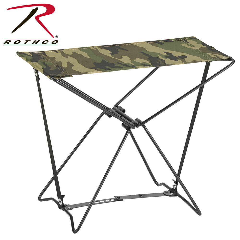 Rothco 専用ケース付 折りたたみイス [ ウッドランドカモ ] | フラージュ 迷彩 アウトドアチェア 折りたたみいす 折り畳みイス 折り畳み椅子 折り畳みいす フォールディングチェア