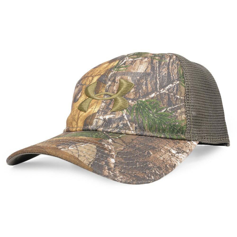 アンダーアーマー キャップ 迷彩 メッシュ リアルツリー AP-Xtra ベースボールキャップ 野球帽 メンズ ワークキャップ ハット ミリタリーキャップ