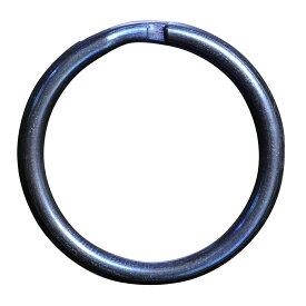 二重リング 丸押 ブルー チタン ハンドクラフト材 [ 20mm ] 二重カン 青 キーリング キーホルダー 二重チング クラフトパーツ アウトドア 二重環 レザークラフト資材 レザークラフト材料