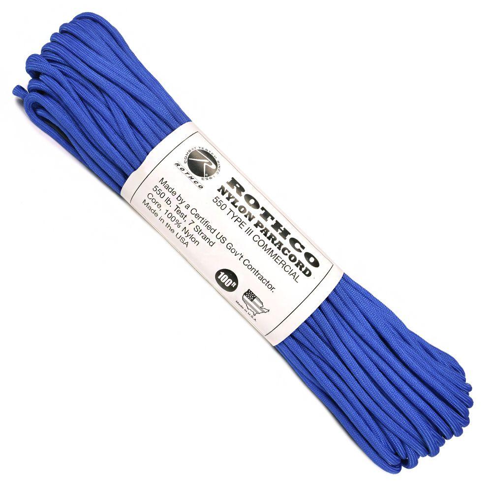 ROTHCO パラコード タイプ3 ロイヤルブルー [ 30m ] ロスコ 550パラコード パラシュートコード ロープ 綱 靴紐 靴ひも シューレース