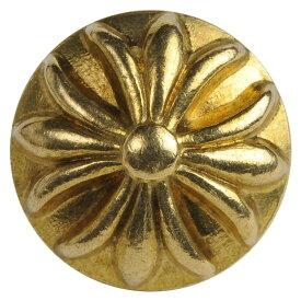 ラウンド型 コンチョ クロス 13mm 真鍮製 十字架 ドーム型 黄銅 ハンドメイド 長財布 ロングウォレット 革製品 レザークラフト 材料 資材 パーツ