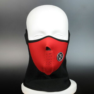 フェイスマスク ハーフ 通風孔付 [ レッド ] フリースマスク 防寒マスク 防寒用防寒対策 防寒グッズ デジタルカモフラージュ ユニバーサルカモ 迷彩 バラクラバ 目出し帽 目だし帽 目出帽 バ