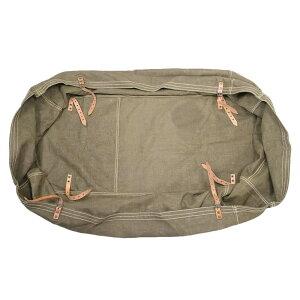 チェコ軍放出品 トランスポートバッグ 大型 コットンキャンバス製 ベルト付き 大型バッグ カバー 綿 軍払下げ品 軍物 実物 ミリタリー アウトドア キャリーバッグ キャリーケース スーツケ