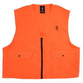 ブローニング 狩猟用 ハンティングベスト ブレイズオレンジ [ Lサイズ ] Safety Blaze Vest ハンティング用品 ロゴ刺繍 ポケット 通販 販売 狩猟ベスト クレー用ベスト 狩猟用ベスト