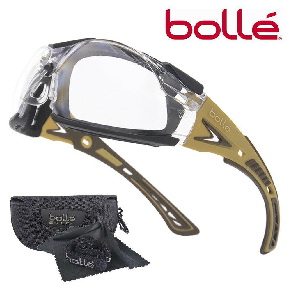 Bolle サングラス Rush Plus クリアレンズ 1662301JP メンズ アイウェア 紫外線カット UVカット 保護眼鏡 保護メガネ 曇り止め ボレー ラッシュプラス clear safety ボレーセーフティー