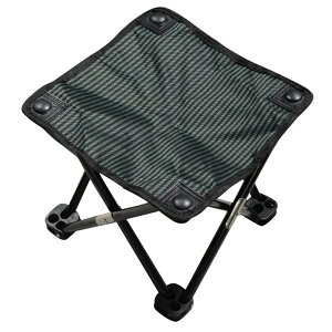 キャンプスツール 収納袋付き アウトドアチェア 折りたたみ椅子 コンパクト [ ブラック ] 携帯用 携帯用イス BBQ バーベキュー お花見 観戦 折りたたみいす 折りたたみイス 折りたたみチェア