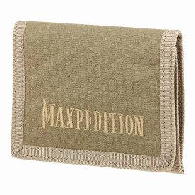 マックスペディション TFW 3つ折り財布 [ タン ] MAXPEDITION 三つ折りウォレット パスケース