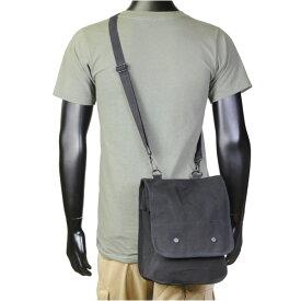 Rothco ショルダーバッグ マップケース [ ブラック ] オリーブドラブiPad用バッグ iPad収納ケース iPadポーチ | ショルダーバック メッセンジャーバッグ かばん カジュアルバッグ カバン 鞄 ミリタリー 帆布 斜めがけバッグ OD 肩掛けかばん 肩掛けカバン