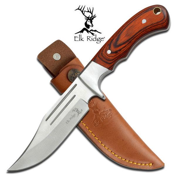 Elk Ridge ハンティングナイフ ER-052 ダブルブラッドグルーブ マスターカトラリー エルクリッジ ハンターナイフ 狩猟 解体用 スキニングナイフ スキナー サバイバルナイフ シースナイフ