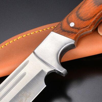 ElkRidgeハンティングナイフER-052ダブルブラッドグルーブマスターカトラリーエルクリッジハンターナイフ狩猟解体用スキニングナイフスキナーサバイバルナイフシースナイフ