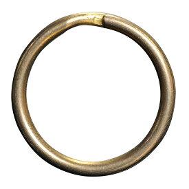 二重リング 丸押 ゴールド チタン ハンドクラフト材 20mm [ 20mm / ゴールド ] 二重カン ハンドメイド クラフトパーツ レザークラフト 手芸 革細工 キーリング 二重環 レザークラフト資材 レザークラフト材料