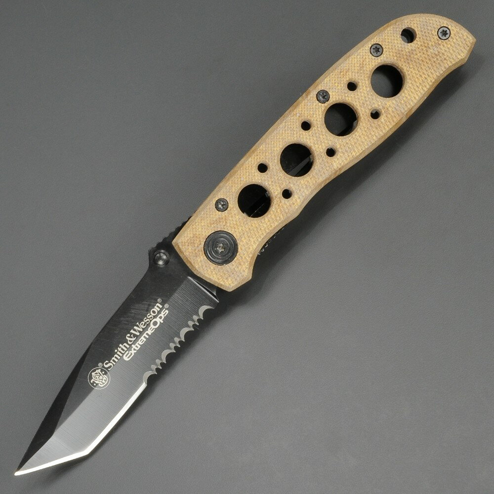 スミス&ウエッソン 折りたたみナイフ CK5TBSD ブルズアイ S&W 折りたたみデザートカモ   スミス&ウェッソン 折り畳みフォルダー フォールディングホールディング