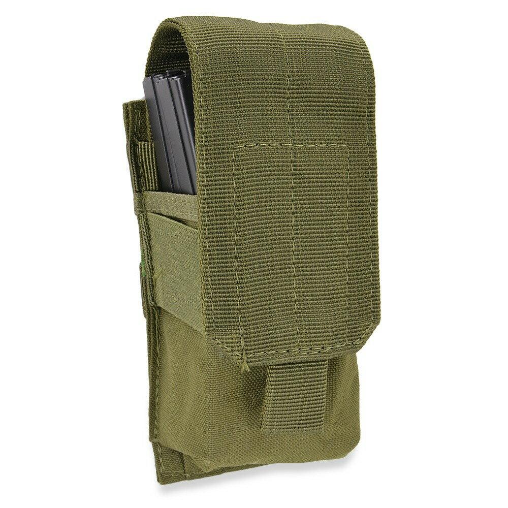 CONDOR マガジンポーチ M4/M16 シングルマグ MA5 [ オリーブドラブ ] コンドルアウトドア M4マガジンポーチ M16マガジンポーチ 弾倉 サバゲー装備