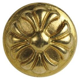 ラウンド型 コンチョ クロス 真鍮製 [ 13mm ] ドーム型 黄銅 十字 ハンドメイド 長財布 ロングウォレット 革製品 レザークラフト 材料 資材 パーツ