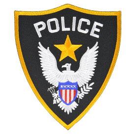 ミリタリーパッチ POLICE シールド型 アイロンシート付 [ 小 ] アメリカ警察 SHIELD | ミリタリーミリタリーパッチ アップリケ 記章 徽章 襟章 肩章 胸章 階級章