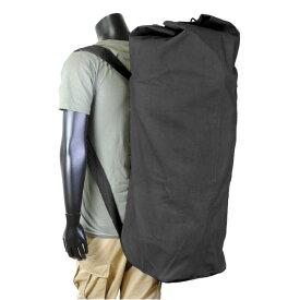 Rothco ダッフルバッグ GIスタイル ダブルストラップ 帆布 [ ブラック ] 2485 | ミリタリー バックパック かばん カジュアルバッグ カバン 鞄 雑嚢 ジムバッグ スポーツバッグ