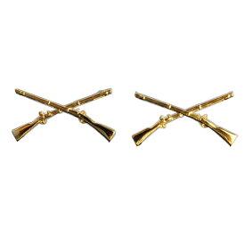 Rothco ピンバッジ 1751 米軍徽章 歩兵 ゴールド 2個セット ピンズ ミリタリーバッジ ミリタリーバッチ 記章 襟章 肩章 胸章 袖章 臂章 階級章 エンブレム