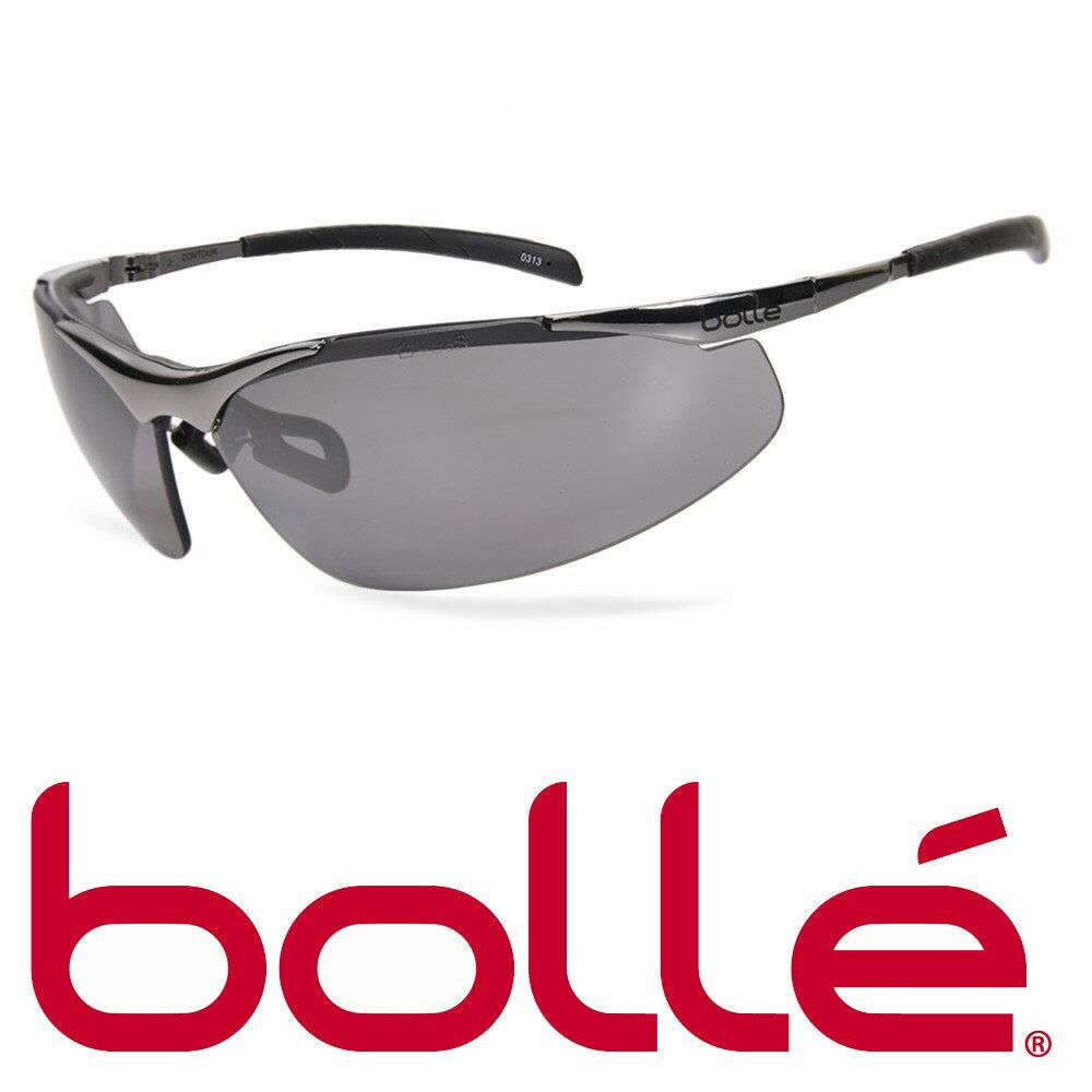Bolle サングラス Contour Metal スモークレンズ ボレー セーフティグラス シューティンググラス 紫外線カット UVカット グラサン クレー射撃 保護眼鏡 保護メガネ 曇り止め 防雲 アンチフォグ