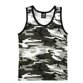 Rothco タンクトップ コットン混紡 迷彩 [ シティカモ / Lサイズ ] |Rothco メンズTシャツ 半そで プリント デザイン スポーツ ミリタリーTシャツ ミリタリーシャツ ランニングシャツ 袖なし スリーブレス