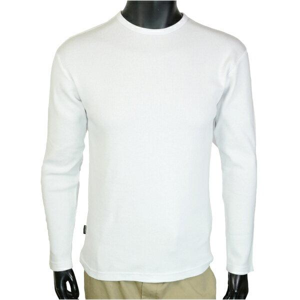 AVIREX Tシャツ 長袖 デイリー クルーネック ミニワッフル [ ホワイト / Lサイズ ] ロングTシャツ ロンT 長そでアヴィレックス アビレックス 6143333 メンズ メンズTシャツ トップス カットソー