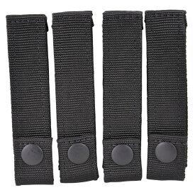 CONDOR モジュラーストラップ 4本セット [ ブラック / 4インチ ] コンドルアウトドア モールシステム MOLLE モールアクセサリー