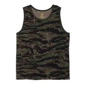 Rothco タンクトップ コットン混紡 迷彩 [ タイガーストライプ / Lサイズ ] |Rothco メンズTシャツ 半そで プリント デザイン スポーツ ミリタリーTシャツ ミリタリーシャツ