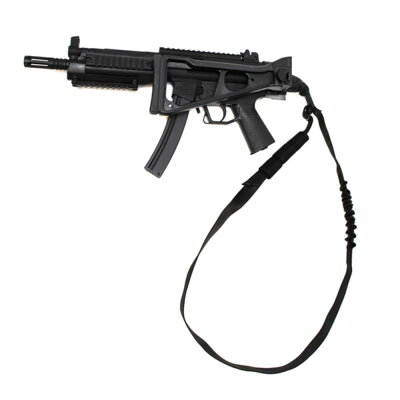 LBT実物シングルポイントスリング2フック仕様バンジー2500C[ブラック]ロンドンブリッジトレーディング1ポイントスリングワンポイントスリングバンジースリング伸縮スリングCQBスリングHKフック式負い紐小銃用負紐