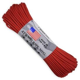 ATWOOD ROPE 550パラコード タイプ3 レッド アトウッドロープ ARM 赤 商用 パラシュートコード 綱 靴紐 靴ひも シューレース 防災 550コード ナイロンコード