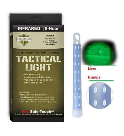 TACSHIELDサイリウムINFRAREDライトスティック6インチ10本入りタックシールドケミカルライトサイリューム赤外線IRcyalumetacshieldウォータープルーフ不燃性非毒性