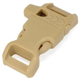 ホイッスルバックル 45×20mm [ コヨーテタン ] 笛